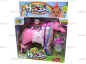 Игрушечная лошадка с куколкой, 6685