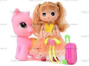 Игрушечная пони с куклой, ZH1303C, игрушки