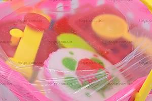 Игрушечная посуда в корзине, 1231, фото