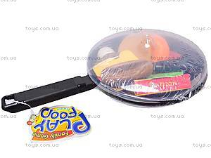 Игрушечная сковородка с продуктами, XG1075-1