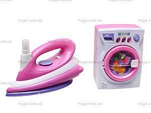 Игрушечная стиральная машина с утюгом, 66025, фото