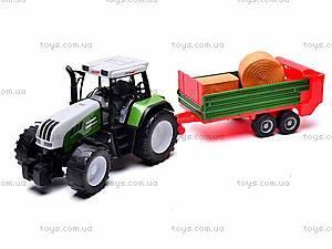 Игрушечный детский трактор, инерционный, 3089