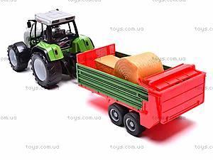 Игрушечный детский трактор, инерционный, 3089, игрушки