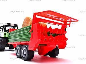 Игрушечный детский трактор, инерционный, 3089, детские игрушки