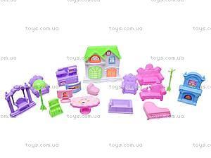 Игрушечный домик с мебелью «Коттедж», 2013-F4, фото
