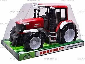 Игрушечный инерционный трактор, 1089A, фото