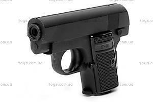 Игрушечный металлический пистолет, с пулями, K18