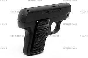 Игрушечный металлический пистолет, с пулями, K18, фото