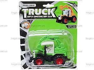 Игрушечный металлический трактор, 8161