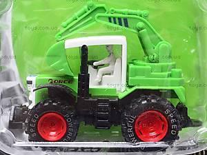 Игрушечный металлический трактор, 8161, фото