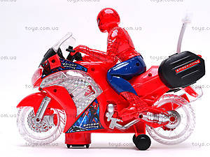 Игрушечный мотоцикл «Человек Паук», 1207, цена