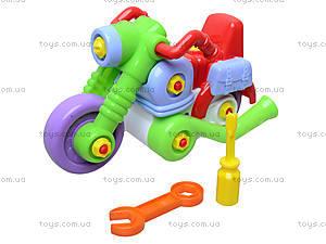 Игрушечный мотоцикл-конструктор, ИП.30.002, магазин игрушек