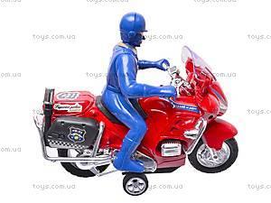 Игрушечный мотоцикл с водителем, CZ003A, фото