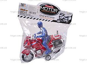Игрушечный мотоцикл с водителем, CZ003A, игрушки