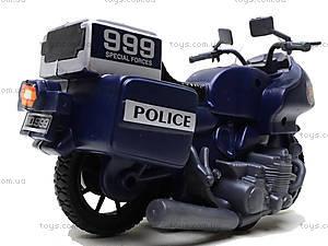 Игрушечный мотоцикл Swat, 999-063G, игрушки