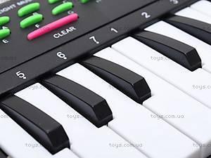 Игрушечный музыкальный орган с микрофоном, TX7799, игрушки