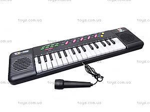 Игрушечный музыкальный орган с микрофоном, TX7799, toys.com.ua