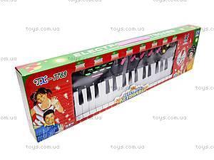 Игрушечный музыкальный орган с микрофоном, TX7799