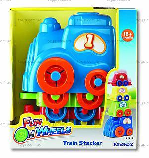 Игрушечный набор «Поезд-транспортер», K31246