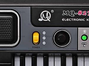 Игрушечный орган с микрофоном, MQ827USB, детские игрушки
