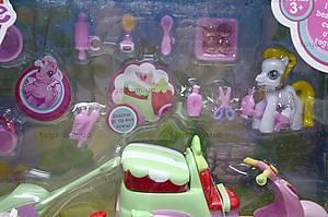 Игрушечный пони с машиной, 732AB, toys