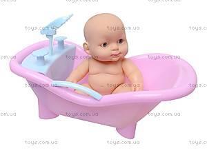 Игрушечный пупсик с ванночкой, 6622, фото