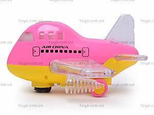 Игрушечный самолет с подсветкой, 198C, отзывы