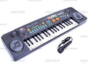 Игрушечный синтезатор, с микрофоном, MQ-3706