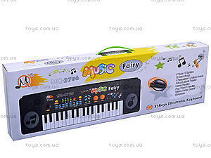 Игрушечный синтезатор, с микрофоном, MQ-3706, купить