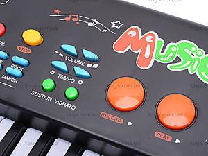 Игрушечный синтезатор, с микрофоном, MQ-3706, игрушки