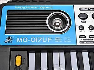Игрушечный синтезатор с микрофоном, MQ017UF, детские игрушки