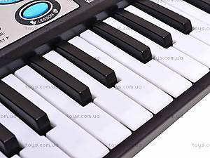 Игрушечный синтезатор с микрофоном, MQ017UF, toys.com.ua