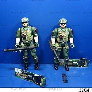 Игрушечный солдат, с оружием, 035AB