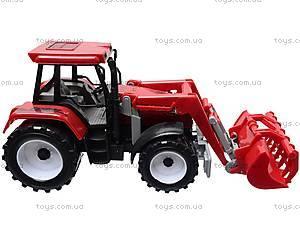 Игрушечный трактор с ковшом, 9998-6/7, детские игрушки