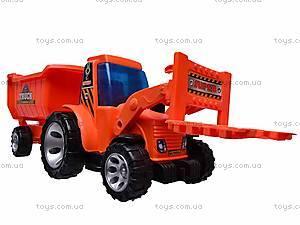 Игрушечный трактор с прицепом, FD603A, фото