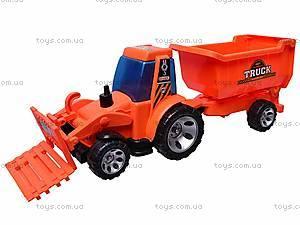 Игрушечный трактор с прицепом, FD603A