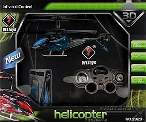 Игрушечный вертолёт WL Toys с автопилотом (синий), WL-S929b, цена
