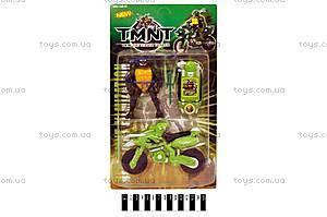 Игрушка «Черепашка-ниндзя», с мотоциклом, 2632C