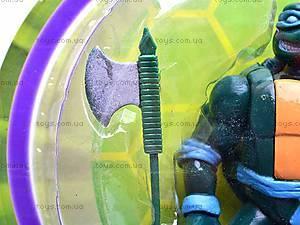 Игрушка «Черепашка-ниндзя», с оружием, 09100, фото