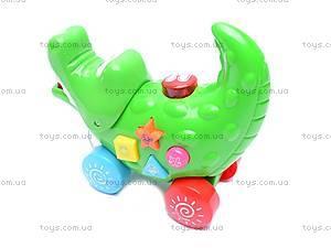 Игрушка - каталка «Крокодил», 3008A, фото