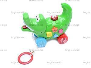 Игрушка - каталка «Крокодил», 3008A, цена