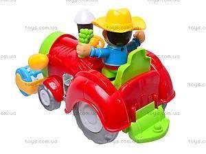 Игрушка музыкальная «Веселый тракторист», 213-1ABC, фото
