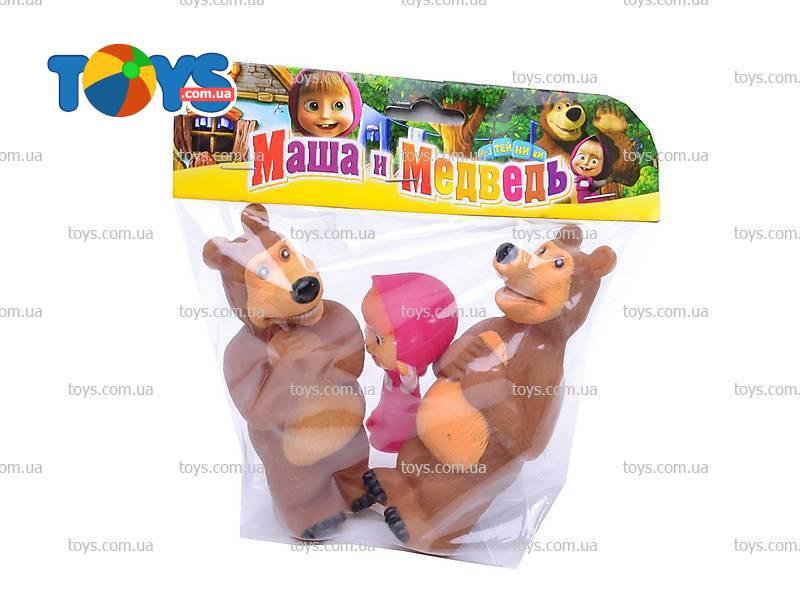 Игрушки маша и медведь пластмассовые