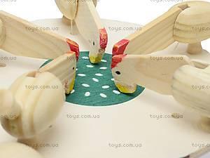 Игрушка под роспись «Курочки зернышки клюют», BT-WT-0005, игрушки