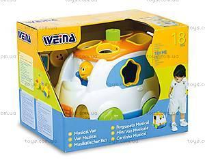 Игрушка Weina «Музыкальный микроавтобус», 2071