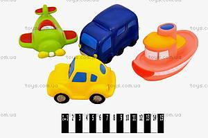 Игрушки-пищалки «Транспорт», S136Х4