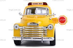 Инерц. машина Chevrolet Suburban School Bus 1950, KT5005W, магазин игрушек
