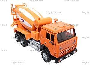 Инерционная бетономешалка, оранжевая, 9117A, игрушки