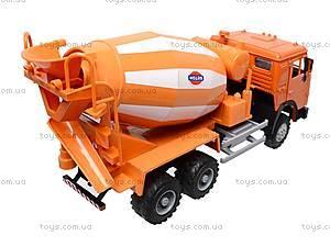 Инерционная бетономешалка, оранжевая, 9117A, детские игрушки