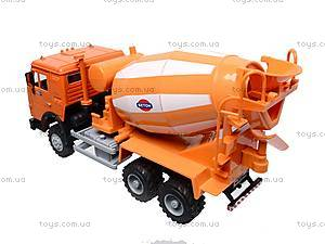 Инерционная бетономешалка, оранжевая, 9117A, магазин игрушек